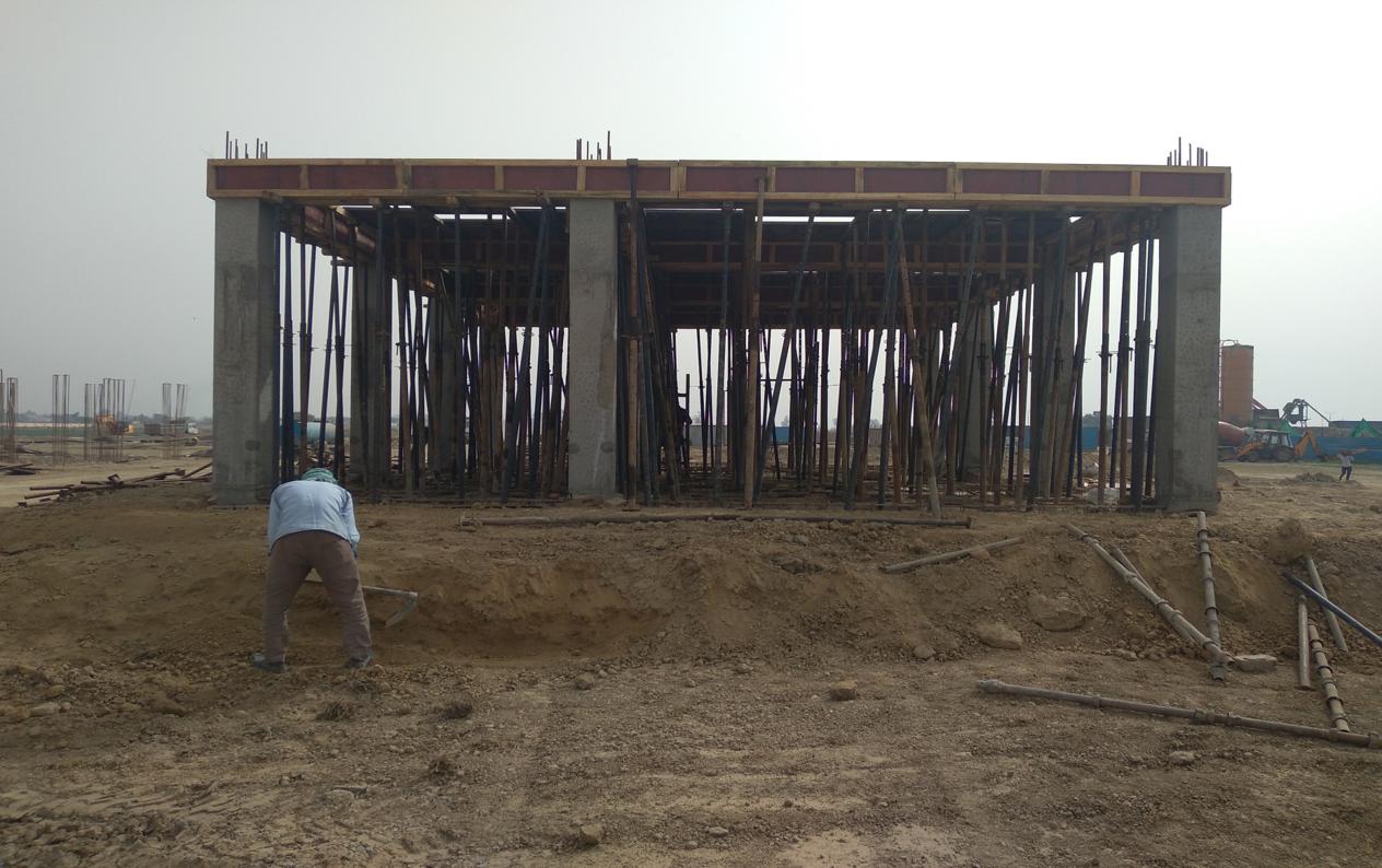 COMMAND CENTER –column casting work in completed slab shuttering work in progress 15.03.2021