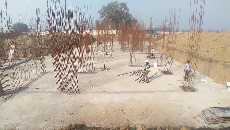Hostel Block H3 – Raft RCC work completed 01.02.2021