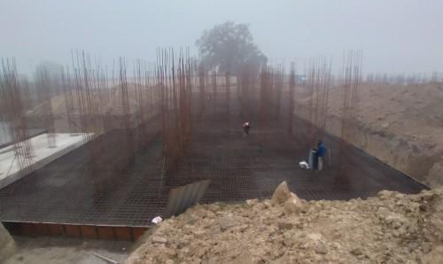 Hostel Block H5 – steel placing & binding work second layer in progress 18.01.2021