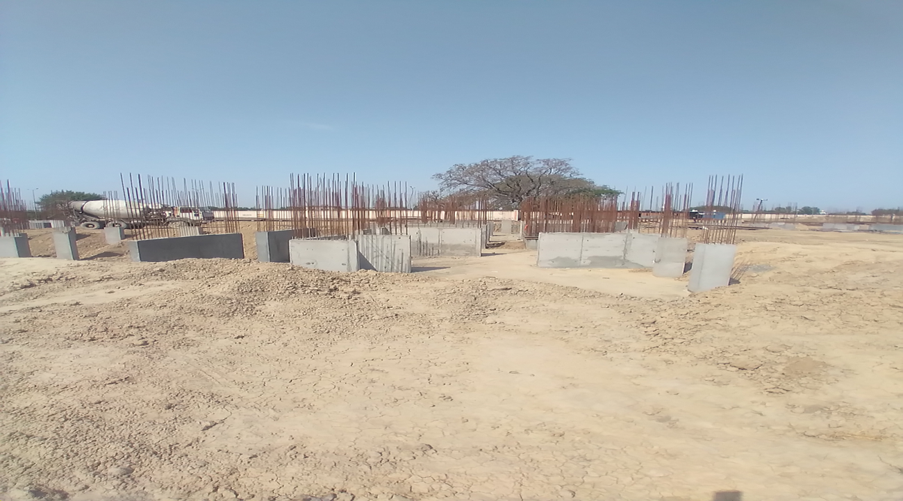 Hostel Block H3 – Column casting work in Completed 12.04.2021
