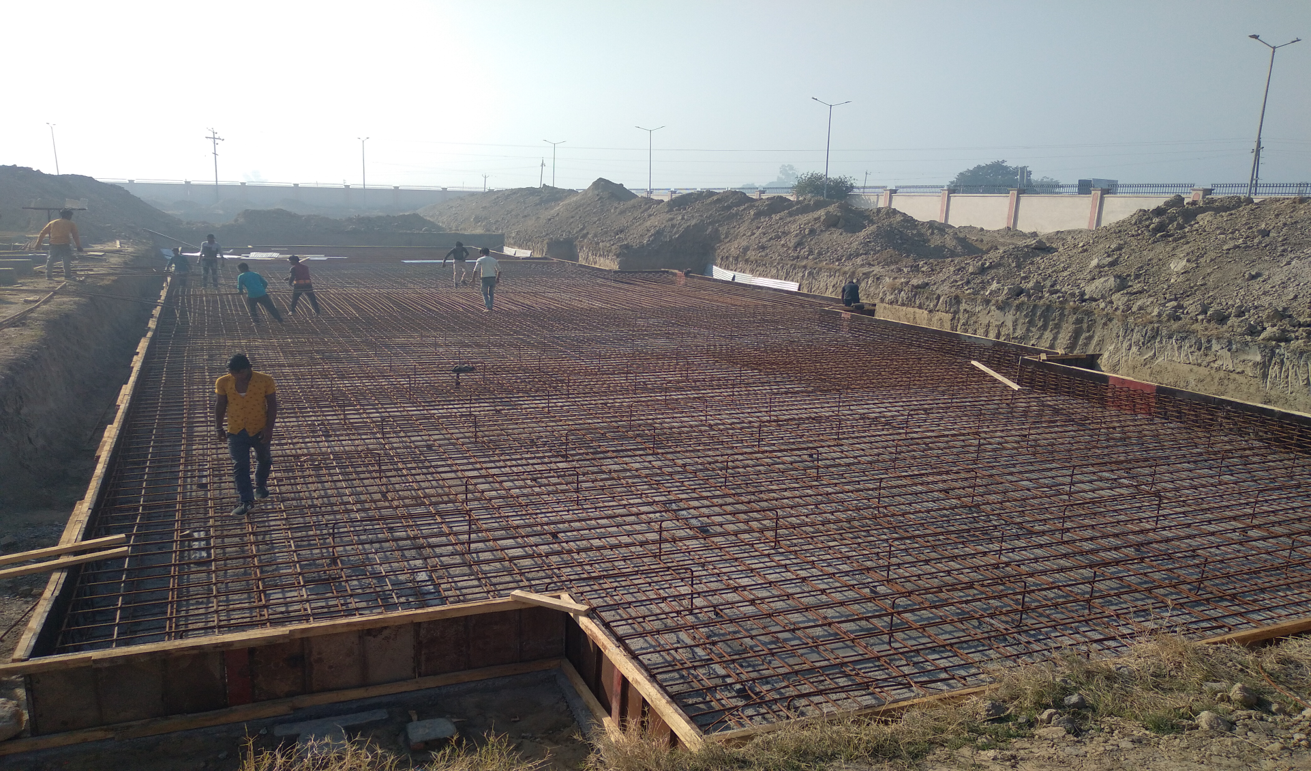 Professor's residence – steel placing & binding work in progress (01-12-2020)