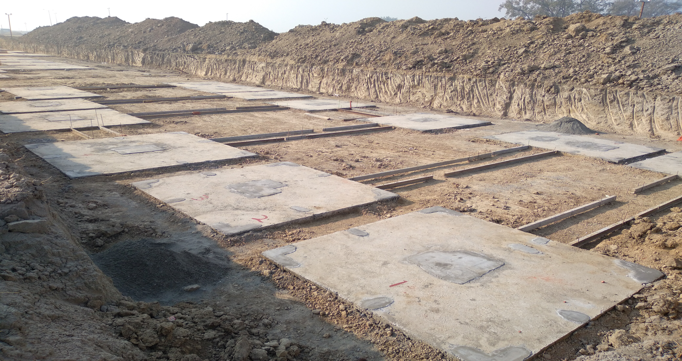HEALTH CENTRE-Footing PCC work completed & layout in progress -(08-12-2020)