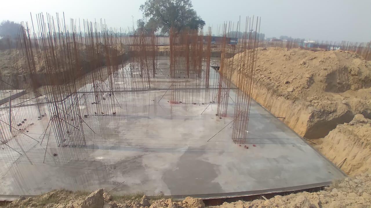 Hostel Block H3 – – Raft RCC work in completed 25.01.2021