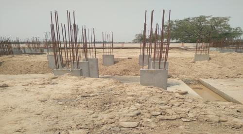 Hostel Block H2 –  column casting completed 04.05.2021