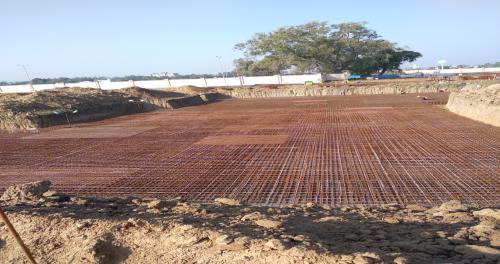 Hostel Block H3 – steel placing & binding second layer in progress (17-11-2020)