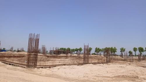 Dinning blockDinning block –  soil filling work in completed  grade slab works in progress 24.05.2021