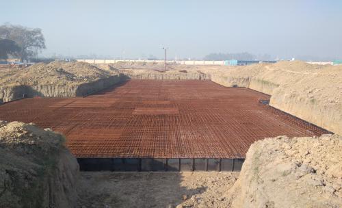 Hostel Block H7 – Steel placing & binding work – second layer work in complete (01-12-2020)