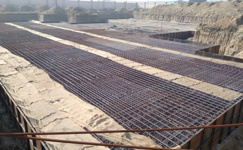Associate Professors Residence – Raft steel placing in second layer completed (21.12.2020)