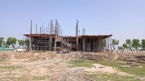 Director's residence – Column casting  work in completed slab shuttering work in progress 17.05.2021