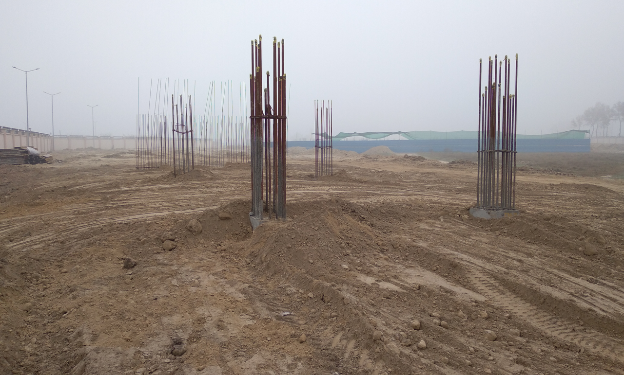 WAITING ROOM - RCC footing in complete column casting work in completed 16.02.2021