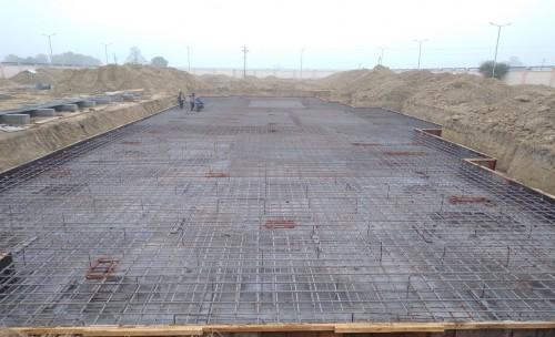 Professor's residence – steel placing & binding work in progress - (14-12-2020)