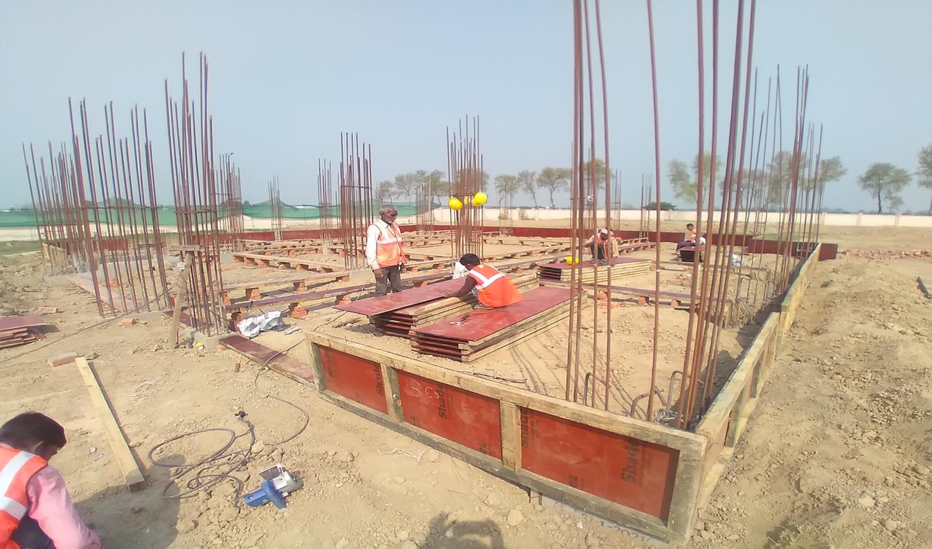 Director's residence – Column casting work in completed soil filling work in completed 09.03.2021