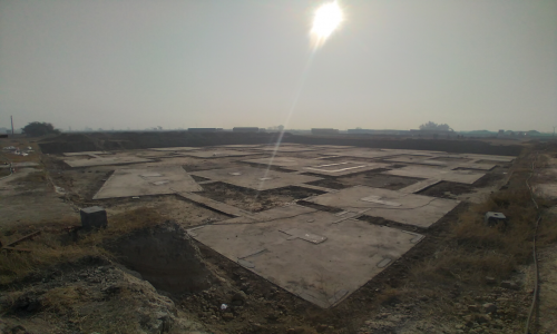 LIBRARY – Footing PCC work completed & layout in progress -(08-12-2020)
