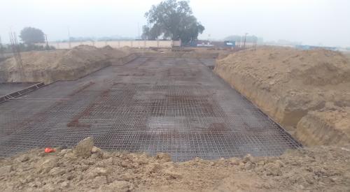 Hostel Block H3 – steel placing & binding second layer in progress (28.12.2020)
