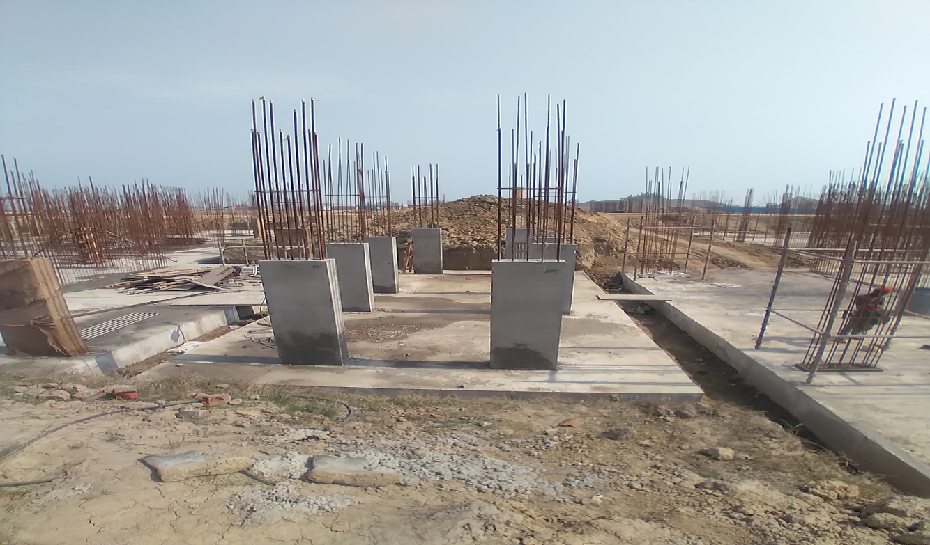 Hostel Block H4 – column casting work in Completed 23.02.2021