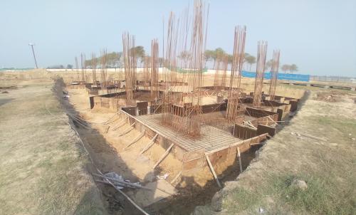 INCUBATION – Footing steel work in progress layout in progress 09.03.2021