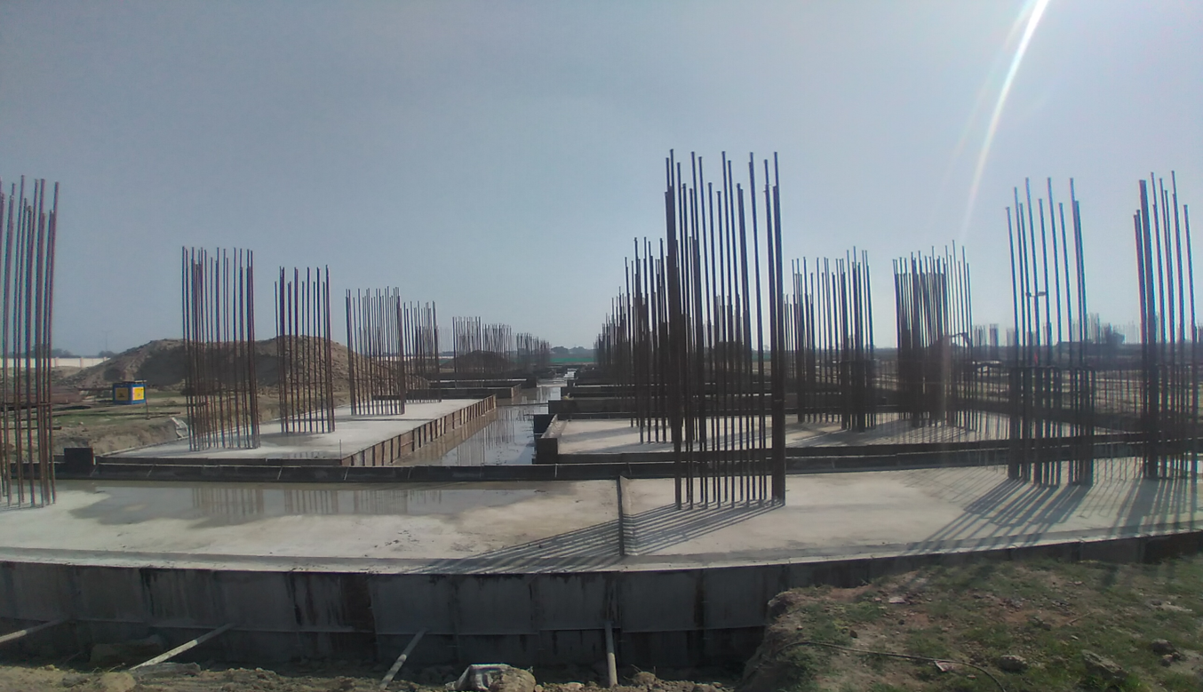 Faculty & Admin block –  Raft steel placing in completed RCC raft work in completed 01.03.2021