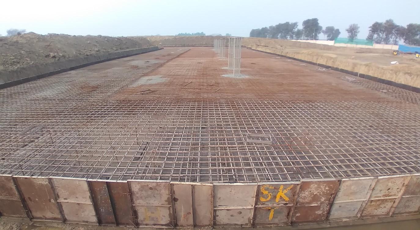 Academic block – 1st pit steel work in progress 05.01.2021