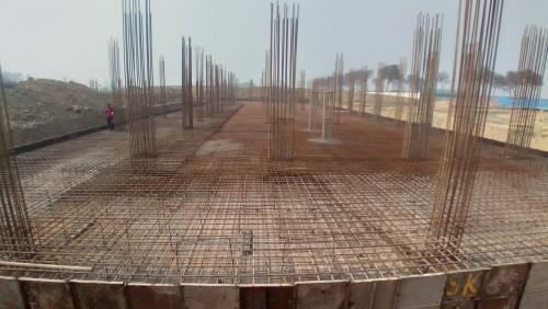 Academic block – 1st pit steel work in progress 25.01.2021