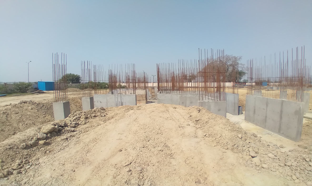 Hostel Block H1 –  Column casting work in completed 30.03.2021