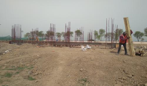 Director's residence – Column casting work in completed soil filling work in completed 15.03.2021