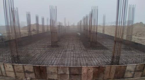Academic block – 2nd pit steel work in progress 18.01.2021