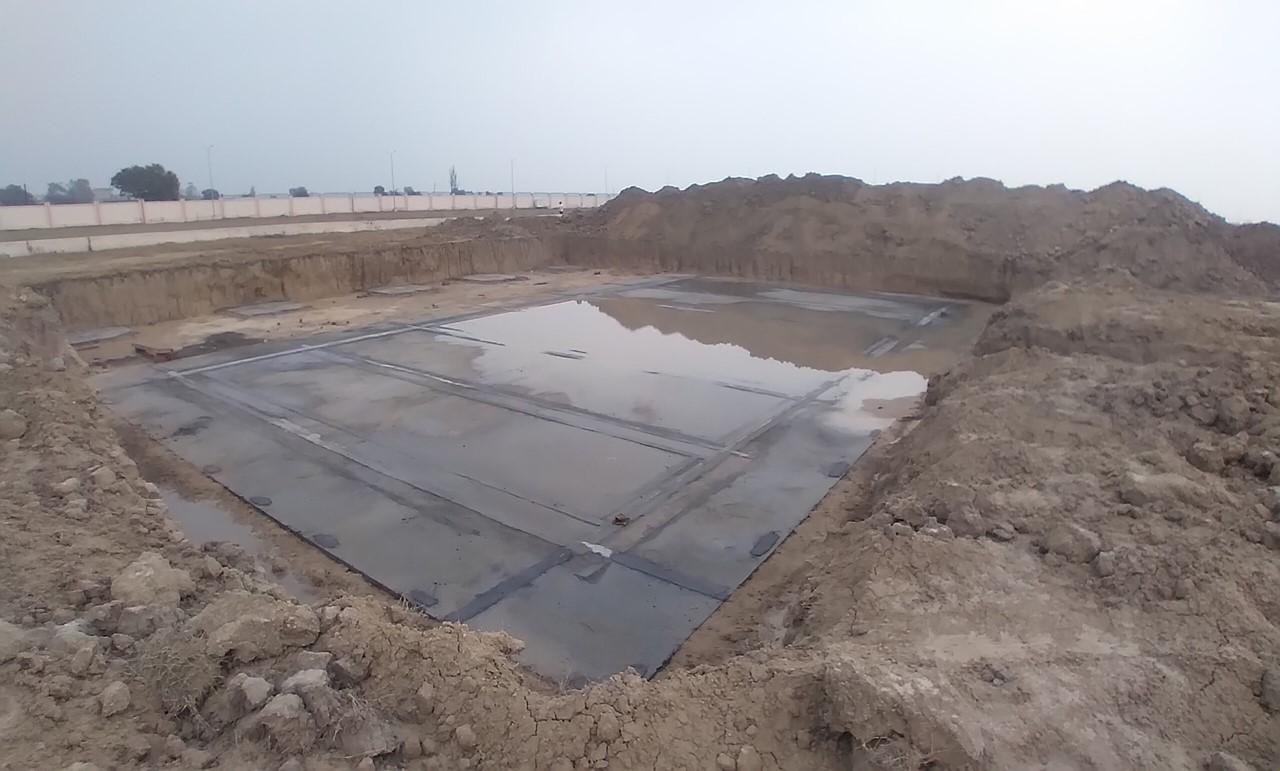 WATER TANK & Plant room  - Footing PCC work Progress 05.01.2021