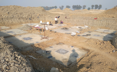 COMMAND CENTER –Footing PCC work completed & layout in progress  -(08-12-2020)