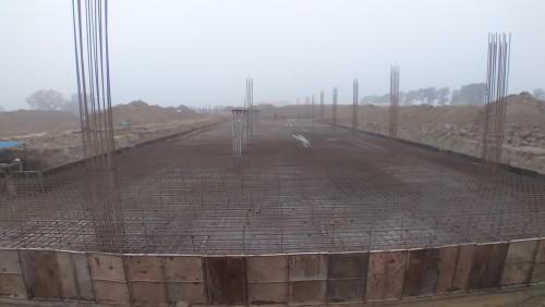 Academic block 2nd pit steel work in progress  11.01.2021