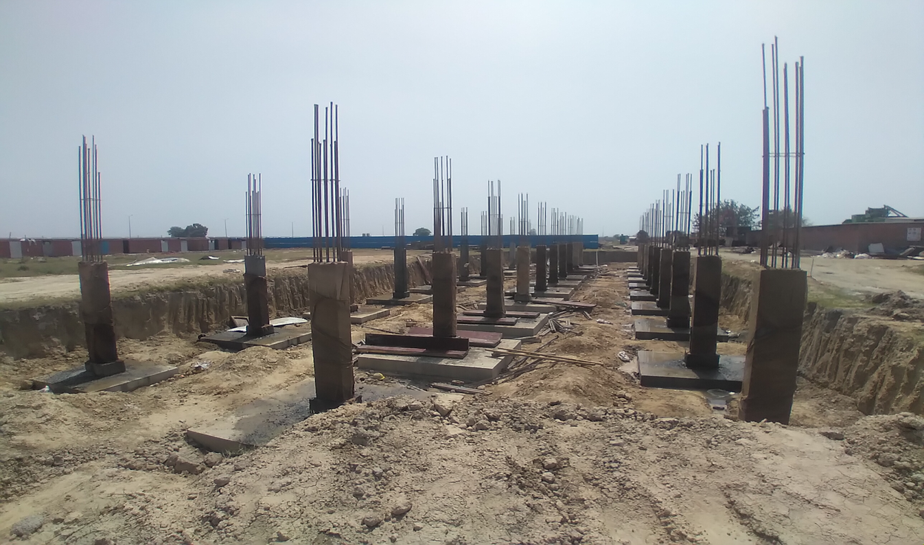 HVAC PLANT ROOM -  column casting works in completed 30.03.2021