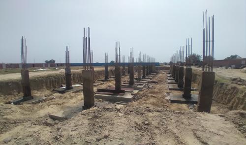 HVAC PLANT ROOM -  column casting works in completed 30.03.2021