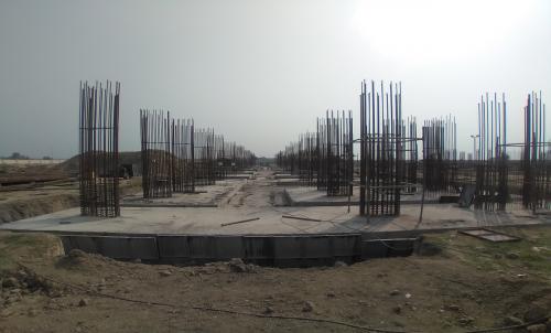 Faculty & Admin block –  Raft steel placing in completed RCC raft work in completed 09.03.2021
