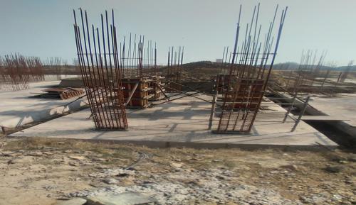 Hostel Block H4 – column casting work in progress 08.02.2021