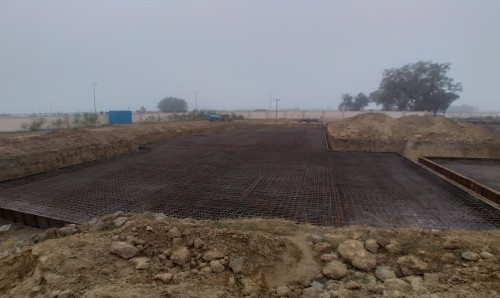 Hostel Block H1 – Steel placing & binding second layer work in progress - (14-12-2020)