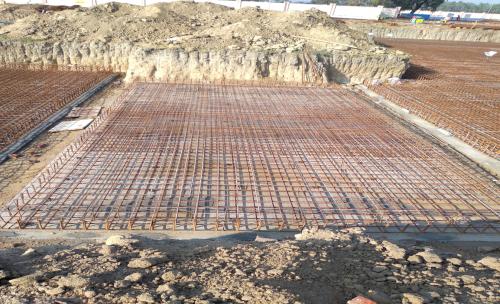 Hostel Block H6 – Steel placing & binding work – second layer work in progress (17-11-2020)