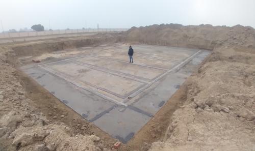 WATER TANK & Plant room  - Footing PCC work Progress (28.12.2020)