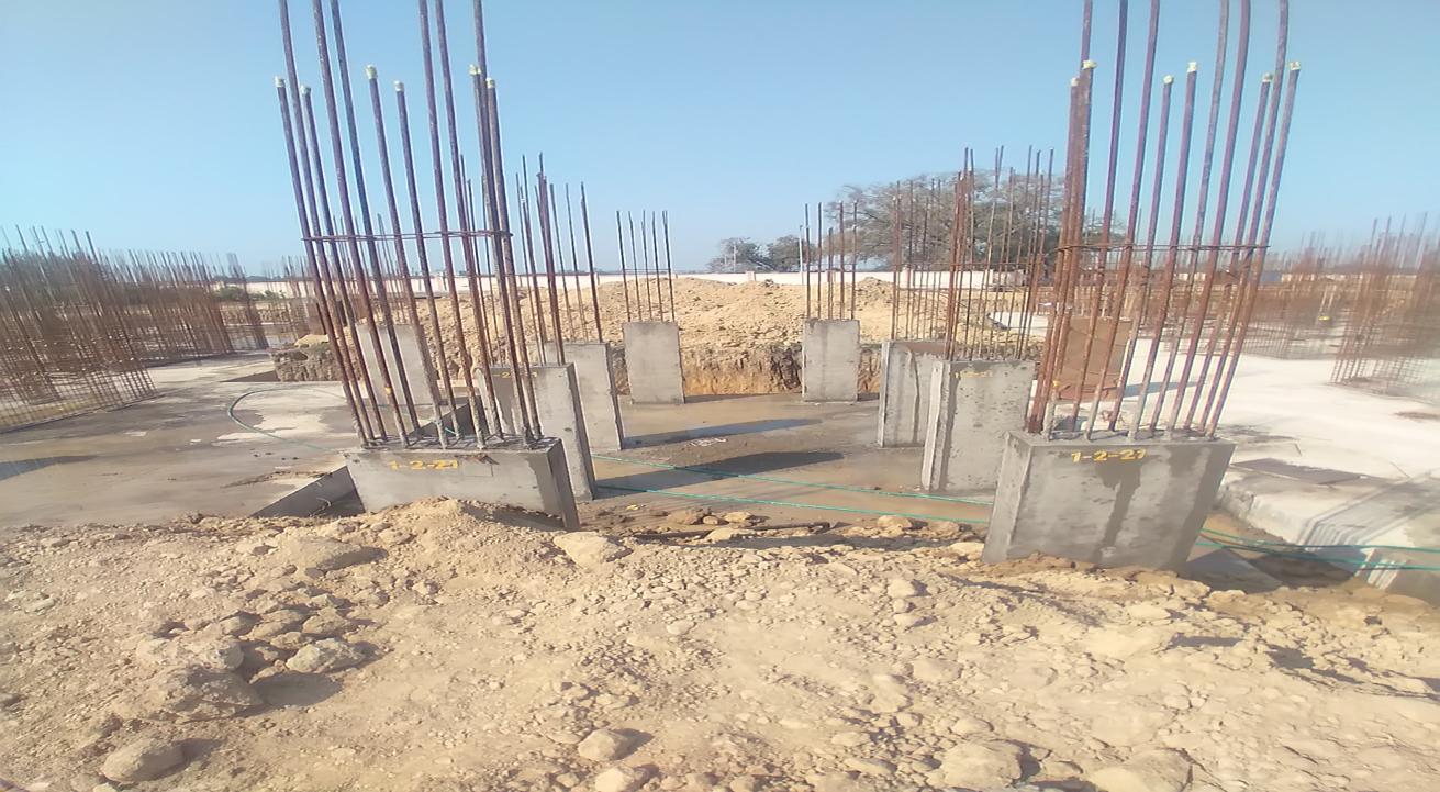 Hostel Block H2 –  column casting completed 01.03.2021