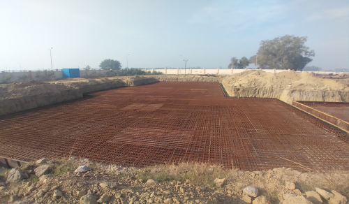 Hostel Block H1 – Steel placing & binding second layer work in progress -(08-12-2020)