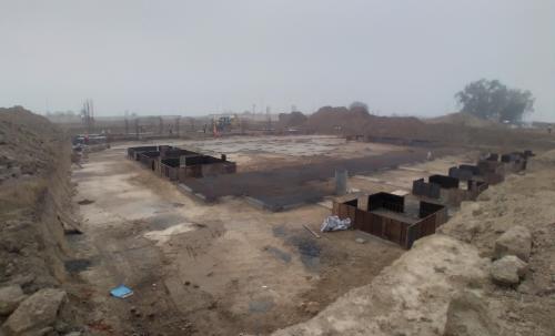 SPORTS COMPLEX – Footing steel work in progress, RCC work in progress  (28.12.2020)