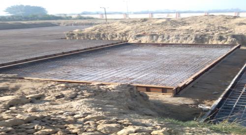 Hostel Block H2 – steel placing & binding in progress (21.12.2020)