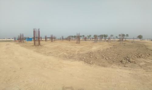 Dinning block – column casting work in completed soil filling work in progress 15.03.2021