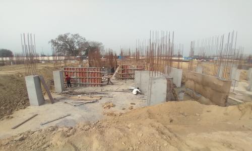 Hostel Block H5 – column layout work in progress &column casting work in progress 15.03.2021
