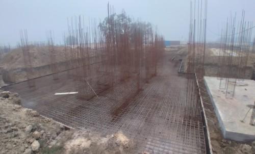Hostel Block H5 – steel placing & binding work second layer in progress 11.01.2021