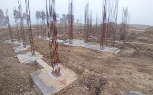 Director's residence – footing RCC work Completed 11.01.2021