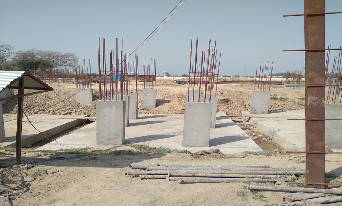 Hostel Block H6 - column casting work in completed 30.03.2021