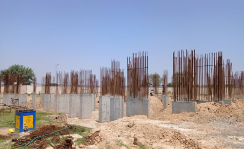 Non Teaching Staff Residence – shear wall casting work in completed 24.05.2021