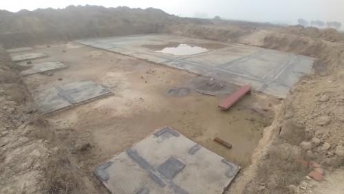 WATER TANK & Plant room  - Footing PCC work complete 18.01.2021