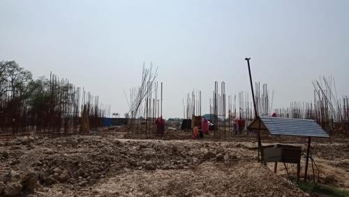 Hostel Block H6 - Soil filling work completed grade slab beam casting  work in completed 14.06.2021.png