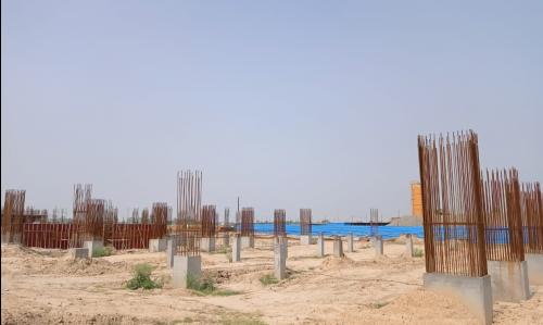 SPORTS COMPLEX –  grade slab steel work in progress 14.06.2021.png