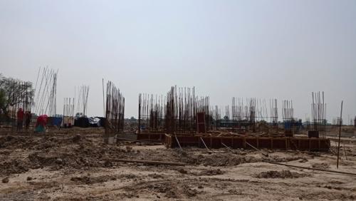 Hostel Block H7-  soil filling work in completed grade slab beam casting  work in progress 14.06.2021.png